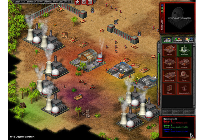 Screenshot of a campaign mission in Sorades – Die Befreiung (2008)